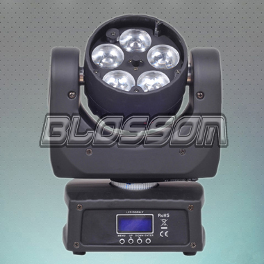 5*10W 4IN1 LED Moving Head Bea...